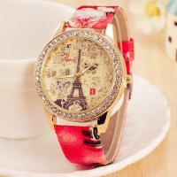 Damen Armbanduhr, PU Leder, mit Glas & Zinklegierung, plattiert, für Frau & mit Strass, keine, 40mm, 20mm, Länge:ca. 9.4 ZollInch, verkauft von PC