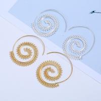 Zinklegierung Ohrringe, Edelstahl Stecker, Spirale, plattiert, für Frau, keine, frei von Blei & Kadmium, 38x45mm, verkauft von Paar