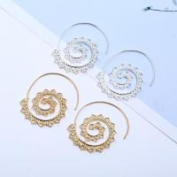 Zinklegierung Ohrringe, Edelstahl Stecker, Spirale, plattiert, für Frau, keine, frei von Blei & Kadmium, 38x42mm, verkauft von Paar