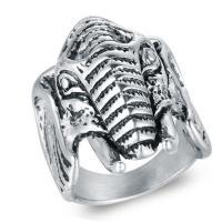 Edelstahl Herren-Fingerring, Titanstahl, Elephant, poliert, verschiedene Größen vorhanden & für den Menschen & Schwärzen, 32mm, Bohrung:ca. 15mm, verkauft von PC