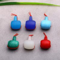 Lampwork 3 Löcher Guru Perlen, handgemacht, 31x22mm, Bohrung:ca. 2mm, verkauft von PC