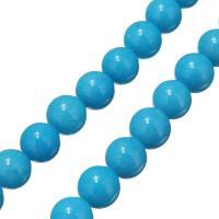 gefärbte Jade Perle, rund, 10mm, Bohrung:ca. 0.7mm, ca. 42PCs/Strang, verkauft per ca. 16 ZollInch Strang