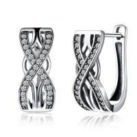 comeon® Schmuck Ohrring, Thailand, Micro pave Zirkonia & für Frau, 8x17mm, verkauft von Paar
