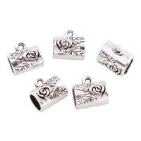 Zinklegierung Stiftöse Perlen, Trommel, antik silberfarben plattiert, frei von Blei & Kadmium, 13x12x10mm, Bohrung:ca. 1,6mm, 10PCs/Tasche, verkauft von Tasche