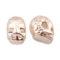 Verkupfertes Kunststoff-Perlen, Verkupferter Kunststoff, Schädel, goldfarben plattiert, 7.50x12x10mm, Bohrung:ca. 1mm, 20PCs/Tasche, verkauft von Tasche