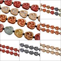 Glasierte Porzellan Perlen, Dreieck, glaciert, keine, 29x27x10mm, Bohrung:ca. 3mm, 10PCs/Strang, 10SträngeStrang/Tasche, verkauft per ca. 12.5 ZollInch Strang