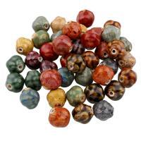 Glasierte Porzellan Perlen, glaciert, keine, 16x16mm, Bohrung:ca. 2mm, 100PCs/Tasche, verkauft von Tasche