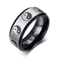 Edelstahl Herren-Fingerring, plattiert, verschiedene Größen vorhanden & für den Menschen, 8mm, verkauft von PC
