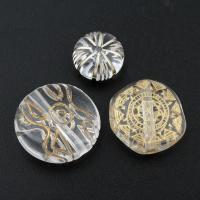 Transparente Acryl-Perlen, Acryl, verschiedene Stile für Wahl, Bohrung:ca. 1, 1.5mm, verkauft von Tasche