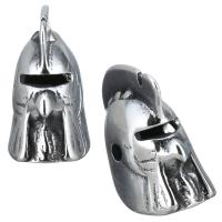 Edelstahl Perle, Schwärzen, 8x15x12mm, Bohrung:ca. 1mm, 10PCs/Menge, verkauft von Menge