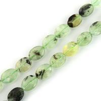 Prehnit Perle, flachoval, 16x12x5mm, Bohrung:ca. 1.5mm, ca. 24PCs/Strang, verkauft per ca. 15 ZollInch Strang
