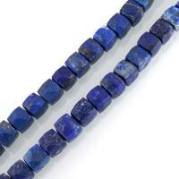 Lapislazuli Perlen, natürlicher Lapislazuli, 7-9x7-9x7-9mm, Bohrung:ca. 1mm, ca. 50PCs/Strang, verkauft per ca. 15.5 ZollInch Strang