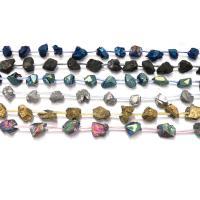 Natürlicher Quarz Perlen Schmuck, plattiert, keine, 20-21x10-13x10-13mm, Bohrung:ca. 1.6mm, ca. 16PCs/Strang, verkauft per ca. 16 ZollInch Strang