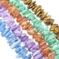 Natürlicher Quarz Perlen Schmuck, plattiert, keine, 9-15x21-38x9-15mm, Bohrung:ca. 0.7mm, ca. 48PCs/Strang, verkauft per ca. 16 ZollInch Strang