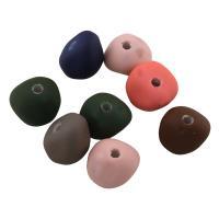 Acryl Perle, gummierte, gemischte Farben, 8x11x11mm, Bohrung:ca. 1mm, ca. 755PCs/Tasche, verkauft von Tasche