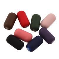 Acryl Perle, Zylinder, gummierte, gemischte Farben, 15.50x7.50x7.50mm, Bohrung:ca. 1mm, ca. 650PCs/Tasche, verkauft von Tasche