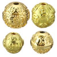 Messing Schmuckperlen, Trommel, vergoldet, verschiedene Größen vorhanden, 50PCs/Menge, verkauft von Menge