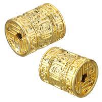 Messing Schmuckperlen, Trommel, vergoldet, 12x14.50x12mm, Bohrung:ca. 2.5mm, 20PCs/Menge, verkauft von Menge