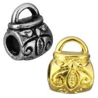 Edelstahl Kaution Perlen, Handtasche, plattiert, keine, 10x13x9mm, Bohrung:ca. 5x2.5mm, 4mm, 10PCs/Tasche, verkauft von Tasche