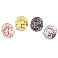 Befestigte Zirkonia Perlen, Messing, plattiert, Micro pave Zirkonia, keine, frei von Nickel, Blei & Kadmium, 11.50x14x8mm, Bohrung:ca. 1mm, verkauft von PC