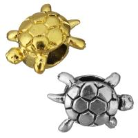 Edelstahl European Perlen, Schildkröter, plattiert, ohne troll, keine, 17x12.50x9mm, Bohrung:ca. 5mm, 10PCs/Tasche, verkauft von Tasche