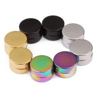 Edelstahl Magnetverschluss, flache Runde, plattiert, verschiedene Größen vorhanden, keine, verkauft von Paar
