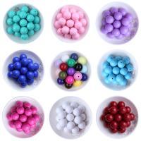 Volltonfarbe Acryl Perlen, rund, verschiedene Größen vorhanden, keine, Bohrung:ca. 1mm, verkauft von Tasche
