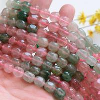 Strawberry Quartz Perle, verschiedene Größen vorhanden, Bohrung:ca. 1mm, verkauft per ca. 15 ZollInch Strang