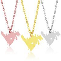 Edelstahl Schmuck Halskette, 304 Edelstahl, mit Verlängerungskettchen von 1.9lnch, plattiert, Oval-Kette & für Frau & hohl, keine, 23.0x18.8mm, verkauft per ca. 17.7 ZollInch Strang