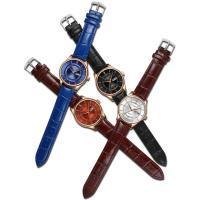 Kuhhaut Armbanduhr, mit Zinklegierung Zifferblatt & Glas & Edelstahl, plattiert, 30 m wasserdicht & unisex & einstellbar, keine, 38x9mm, 20mm, Länge:ca. 9.8 ZollInch, verkauft von PC