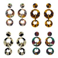 Acryl Tropfen Ohrring, mit Zinklegierung, Eisen Stecker, goldfarben plattiert, für Frau, keine, 30x80mm, verkauft von Paar