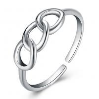 comeon® Finger-Ring, 925 Sterling Silber, unisex & einstellbar, 5mm, Größe:8, verkauft von PC