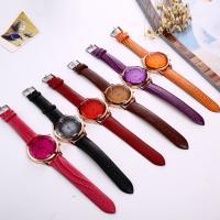 PU Leder Armbanduhr, mit Glas & Edelstahl & Zinklegierung, goldfarben plattiert, einstellbar & für Frau, keine, 40.5x10mm, Länge:ca. 10 ZollInch, verkauft von PC
