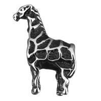 Edelstahl European Perlen, Pferd, ohne troll & Schwärzen, 15x22x8mm, Bohrung:ca. 4.8mm, 10PCs/Menge, verkauft von Menge