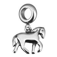 Edelstahl European Perlen, Pferd, ohne troll & Schwärzen, 23mm, 15x13x3mm, Bohrung:ca. 5mm, 10PCs/Menge, verkauft von Menge