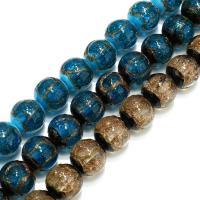 Handgewickelte Perlen, Lampwork, verschiedene Größen vorhanden, keine, Bohrung:ca. 2mm, verkauft per ca. 8.5 ZollInch Strang
