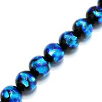 Handgewickelte Perlen, Lampwork, verschiedene Größen vorhanden, Bohrung:ca. 2mm, verkauft per ca. 9 ZollInch Strang