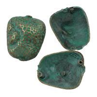 Zink Legierung Perlen Schmuck, Zinklegierung, Bläu, frei von Blei & Kadmium, 27x32x22mm, Bohrung:ca. 3mm, verkauft von PC