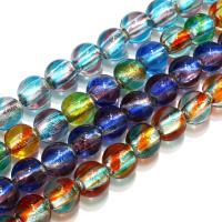 Handgewickelte Perlen, Lampwork, rund, keine, 13mm, Bohrung:ca. 2mm, ca. 30PCs/Strang, verkauft per ca. 11 ZollInch Strang