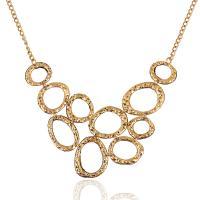 Zinklegierung Schmuck Halskette, mit Eisenkette, goldfarben plattiert, unisex & Twist oval, frei von Blei & Kadmium, 450x50mm, verkauft von Strang