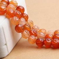 Achat Perlen, Rose, verschiedene Größen vorhanden, verkauft per ca. 15.3 ZollInch Strang