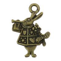 Zinklegierung Tier Anhänger, Charakter, antike Bronzefarbe plattiert, 14x20x2.50mm, Bohrung:ca. 1.5mm, 200PCs/Tasche, verkauft von Tasche