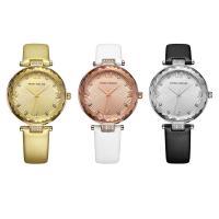 MINIFOCUS® Uhrenkollektion, Leder, mit Glas & Edelstahl & Zinklegierung, plattiert, einstellbar & für Frau & mit Strass, keine, 30x9.8mm, Länge:ca. 9 ZollInch, verkauft von PC