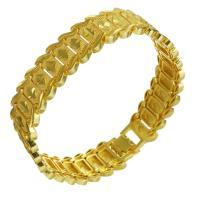 Messing-Armbänder, Messing, 24 K vergoldet, unisex, 17mm, verkauft per ca. 8 ZollInch Strang