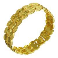 Messing-Armbänder, Messing, 24 K vergoldet, unisex, 16.50mm, verkauft per ca. 8 ZollInch Strang