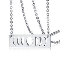Edelstahl Schmuck Halskette, unisex & Oval-Kette & hohl, originale Farbe, 40x12mm, verkauft per ca. 20 ZollInch Strang