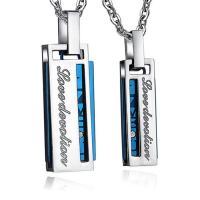 Edelstahl Schmuck Halskette, plattiert, Oval-Kette & verschiedene Stile für Wahl & mit Strass, verkauft per ca. 21.6 ZollInch Strang