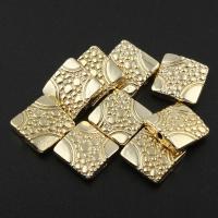 Zink Legierung Perlen Schmuck, Zinklegierung, Quadrat, goldfarben plattiert, frei von Blei & Kadmium, 11x4mm, Bohrung:ca. 1mm, 20PCs/Tasche, verkauft von Tasche
