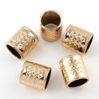 Zinklegierung Großes Loch Perlen, Rohr, vergoldet, frei von Blei & Kadmium, 13x14mm, Bohrung:ca. 10mm, 20PCs/Tasche, verkauft von Tasche