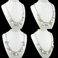 Fashion Beads Iron Necklace